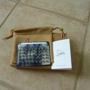 Christian Louboutin 'Kios' Leather Spike Card Case
